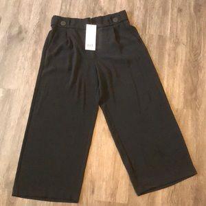 NWT Zara High-Waist Wide-Leg Black Pants